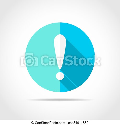 Exclamation point. Vector illustration. - csp54011880