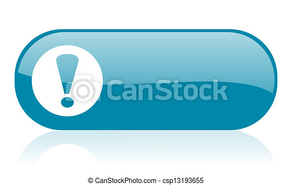 exclamation sign blue web glossy icon - csp13193655