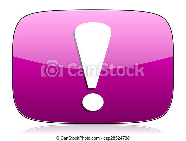 exclamation sign violet icon warning sign - csp28524738