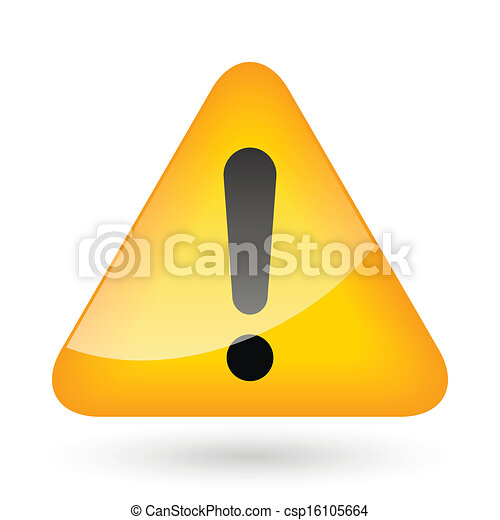 exclamation, signe danger - csp16105664