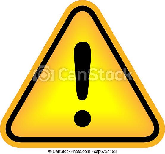 exclamation, vecteur, attention, signe - csp6734193