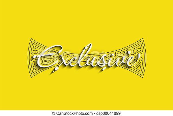 Exclusive Calligraphic 3d Style Text Vector illustration Design. - csp80044899