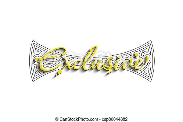 Exclusive Calligraphic 3d Style Text Vector illustration Design. - csp80044882