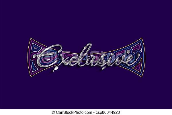 Exclusive Calligraphic 3d Style Text Vector illustration Design. - csp80044920