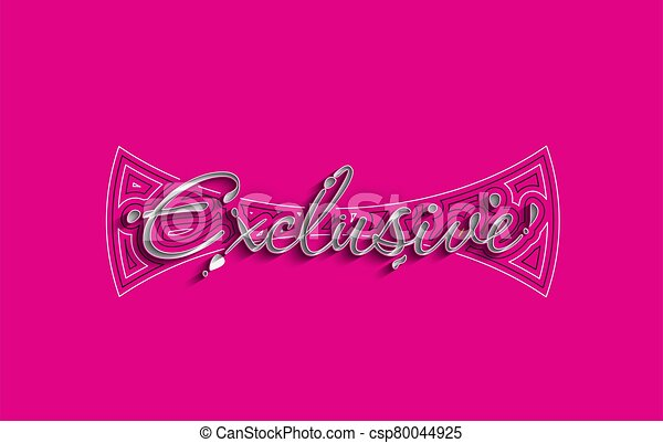 Exclusive Calligraphic 3d Style Text Vector illustration Design. - csp80044925
