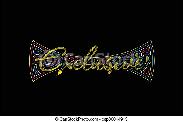 Exclusive Calligraphic 3d Style Text Vector illustration Design. - csp80044915