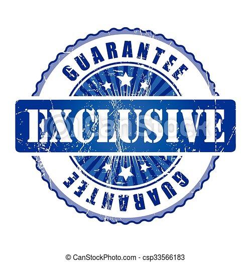 Exclusive  Guarantee Stamp.  - csp33566183