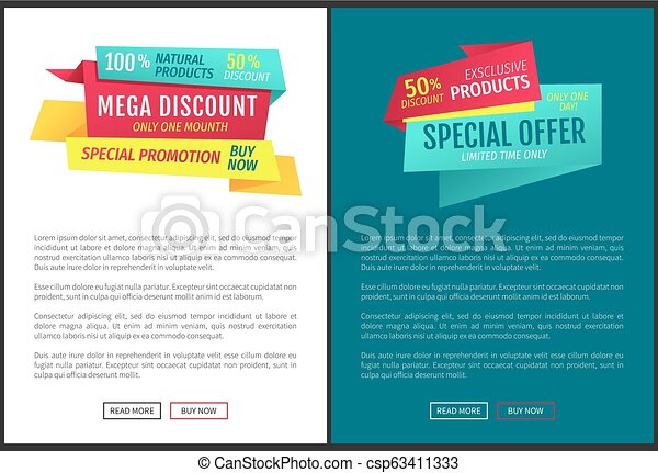 Exclusive Half Price Reduction Vector Illustration