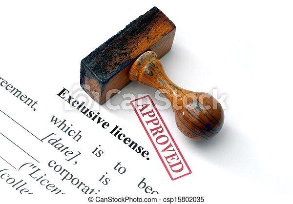 Exclusive license - csp15802035