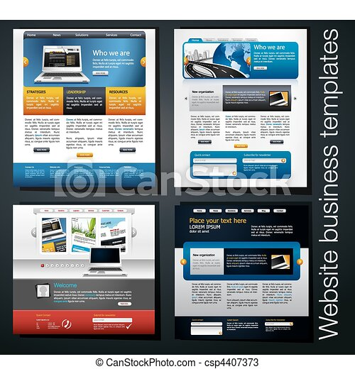 Exclusive website business templates set 4 exclusive website business template csp4407373 maxwellsz