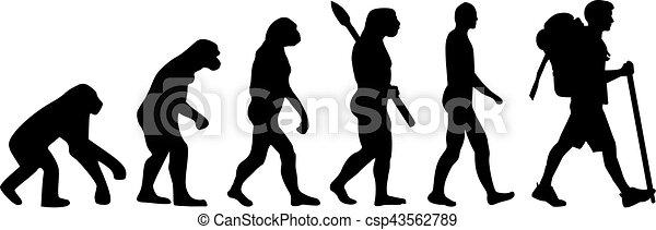 Senderismo de evolución - csp43562789