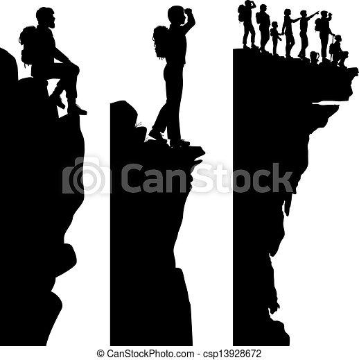 Puntos de vista de los excursionistas - csp13928672