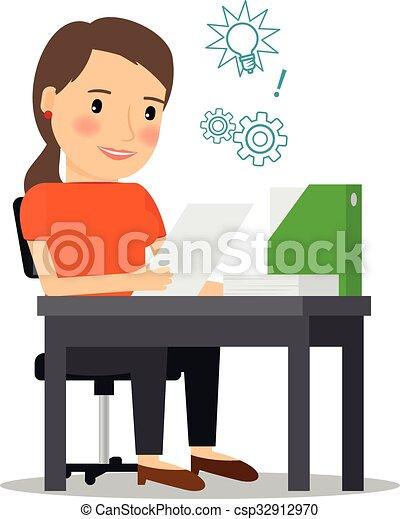 executiva, local trabalho, jovem - csp32912970
