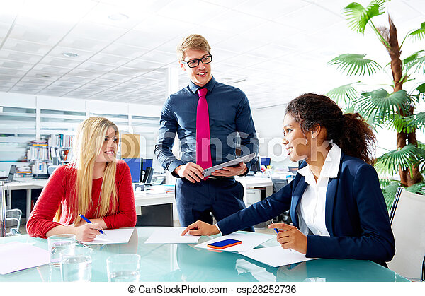 Executive business people team meeting at office - csp28252736