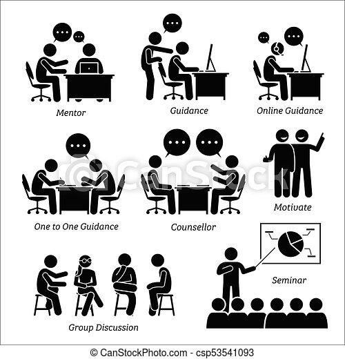 executive., entrenador, dirección, empresa / negocio, mentor - csp53541093