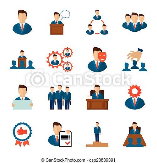 Executive icons flat - csp23839391