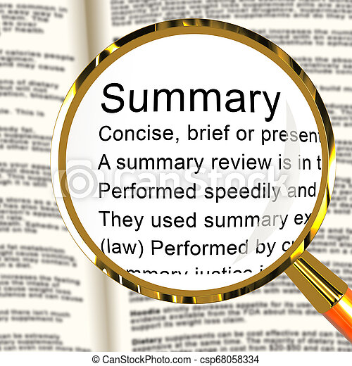 executive summary definition law