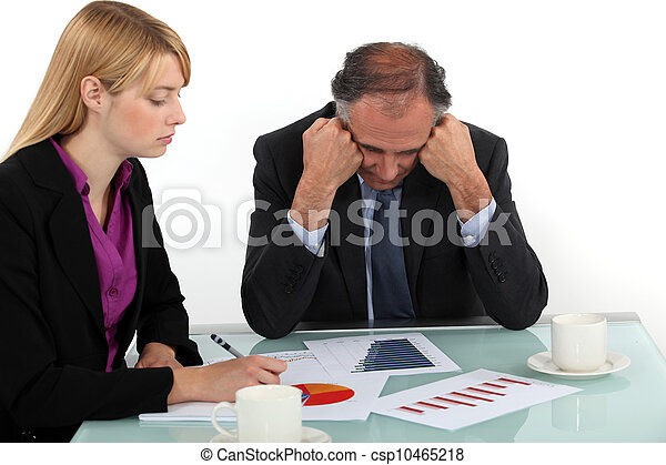 Executives working in office - csp10465218
