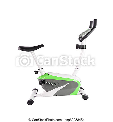 Exercise bicycle isolated - csp60088454