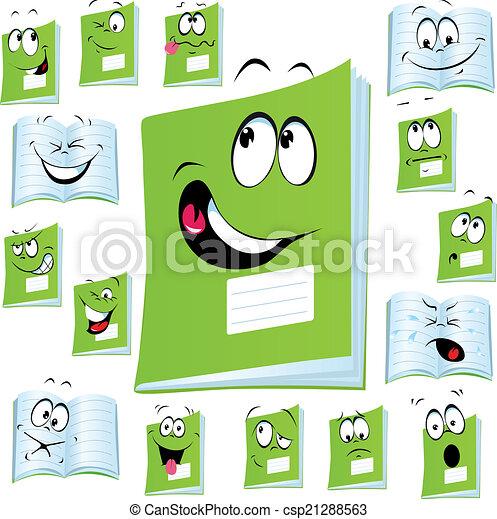 exercise book cartoon - csp21288563