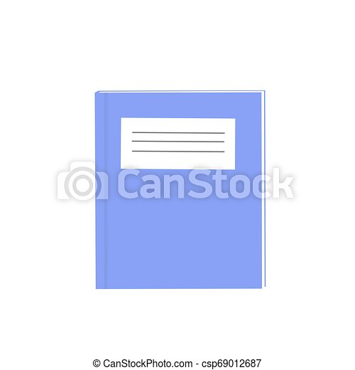 exercise books over the white background vector, illustration - csp69012687