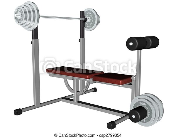 Exercise Equipment 3d Rendered Exercise Equipment Rendered On White Background Isolated
