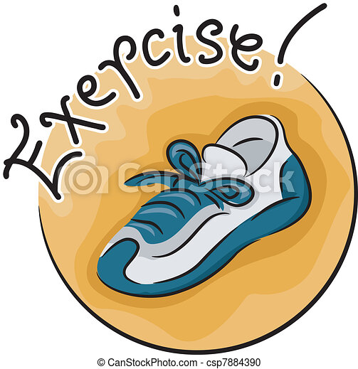 exercise icon icon illustration featuring a sneaker vector clipart rh canstockphoto com exercise clip art for seniors exercise clip art images