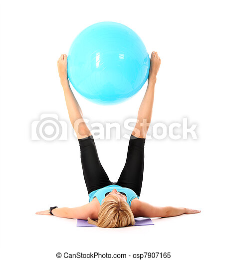 Exercise with ball - csp7907165