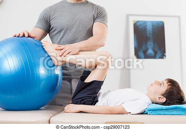 Exercise with fitness ball - csp29007123