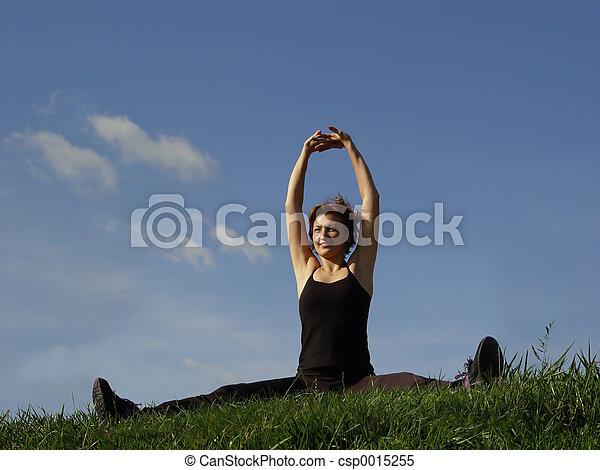 Exercising outdoors - csp0015255