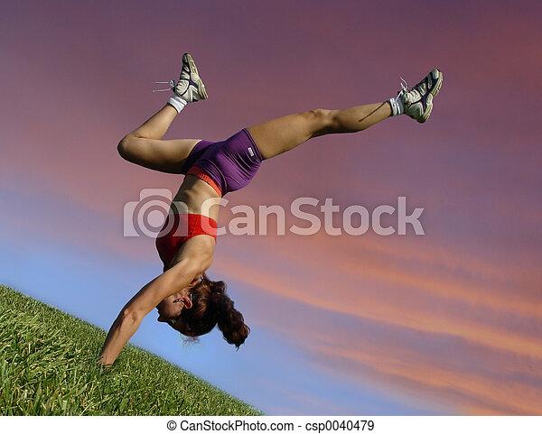 Exercising outdoors - csp0040479