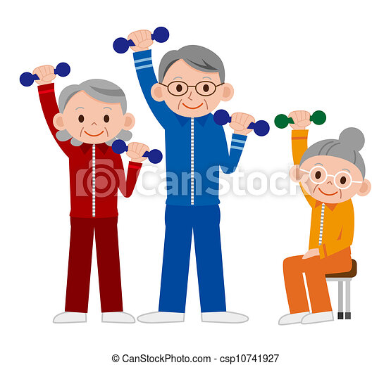 exercising senior clip art search illustration drawings and rh canstockphoto com exercise clipart no background exercise clipart images