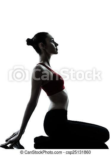 exercisme silhouette méditation femme yoga exercisme