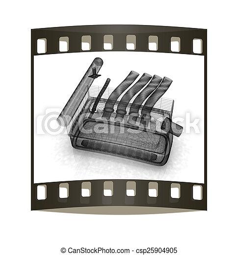 Exhaust system. The film strip - csp25904905