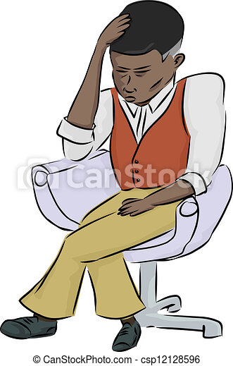 Exhausted Black Man - csp12128596