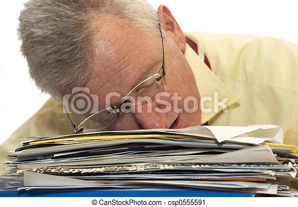 Exhausted senior businessman - csp0555591