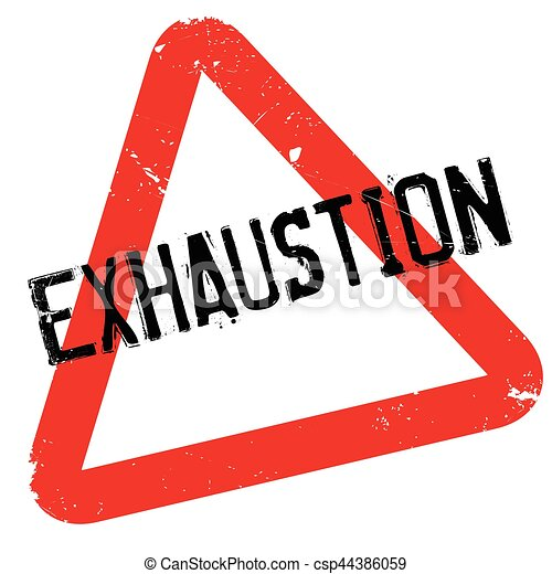 Exhaustion rubber stamp - csp44386059