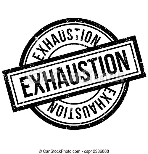 Exhaustion rubber stamp - csp42336888
