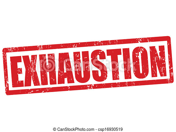 Exhaustion stamp - csp16930519