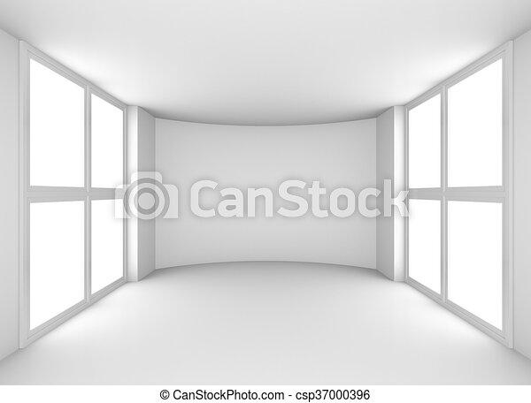 Magnificent Exhibit Empty White Showroom With Windows Download Free Architecture Designs Scobabritishbridgeorg