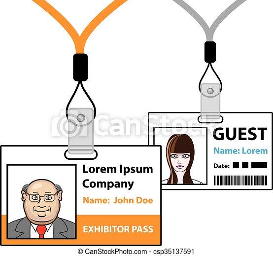 Exhibition pass - csp35137591