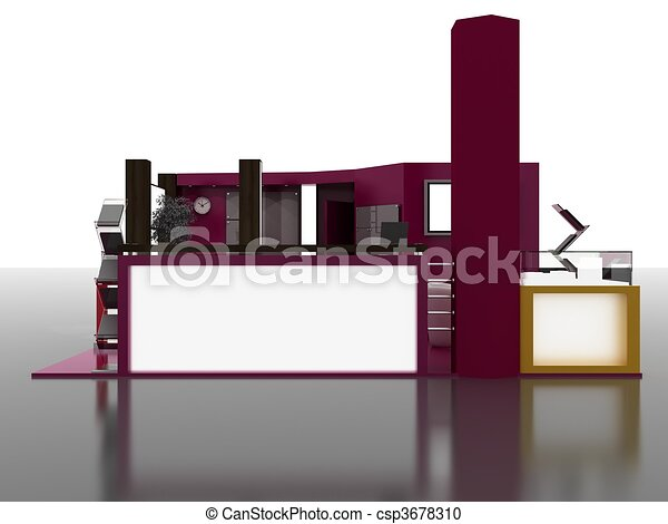 Exhibition Stand Interior Sample - csp3678310