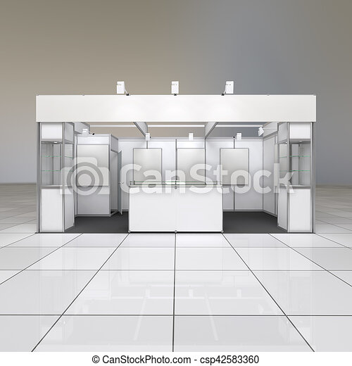 Exhibition Stand Reception : Exhibition stand with blank frieze. modern simple design exhibition