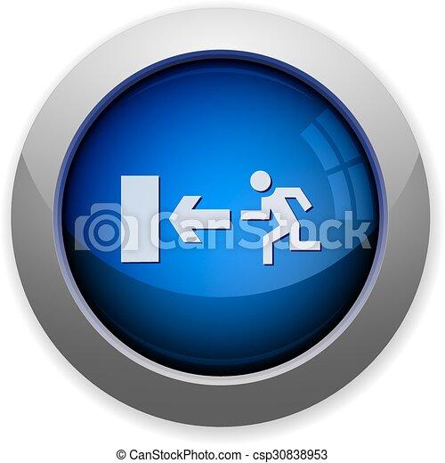 Exit button - csp30838953