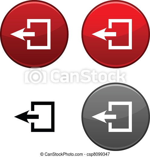 Exit button. - csp8099347