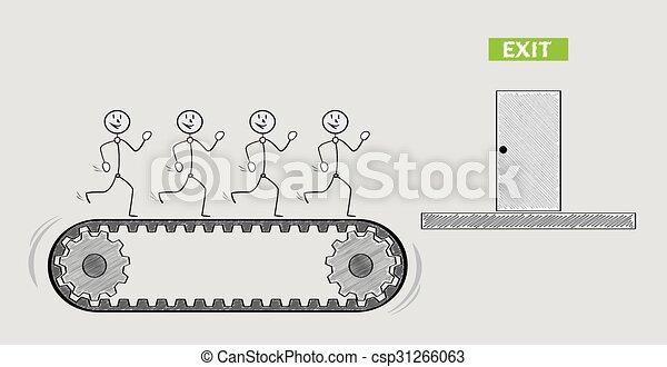 exit door and people on treadmill - csp31266063