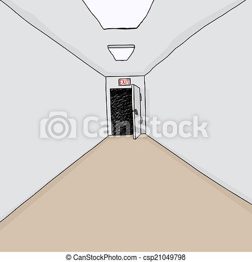 Exit Door in Hall - csp21049798