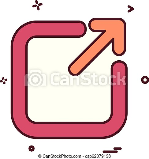 Exit icon design vector - csp62079138