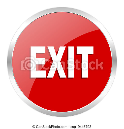 exit icon - csp19446793