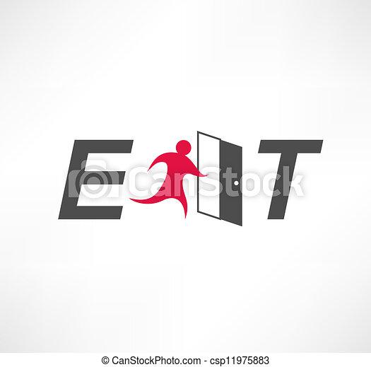 Exit Icon - csp11975883